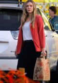 Elizabeth Olsen shops for groceries at Trader Joe's in Los Feliz, California