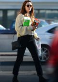 Elizabeth Olsen steps out sporting a new hair color as she picks up some cleaning supplies at CVS in Los Angeles