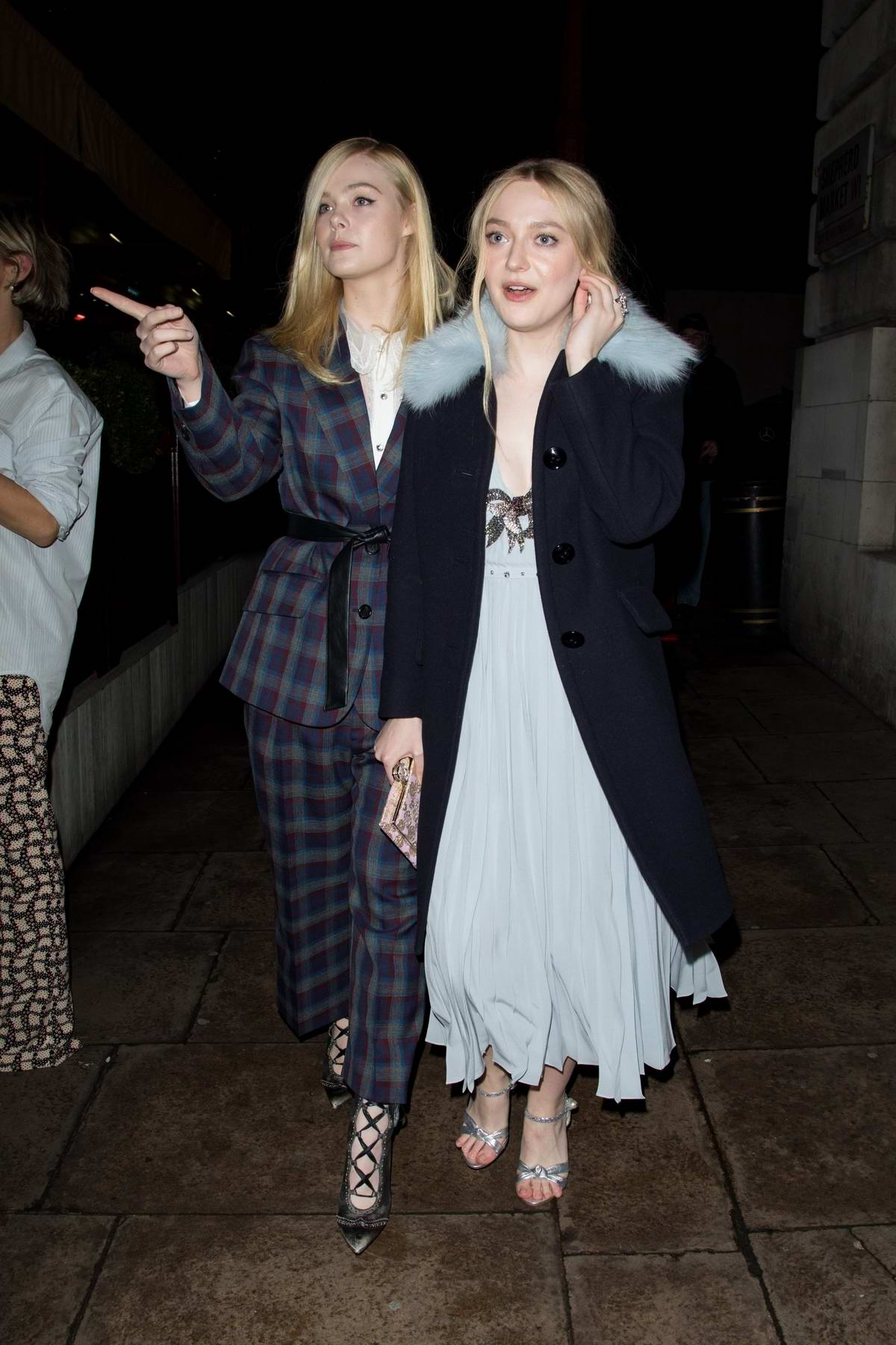 Elle Fanning and Dakota Fanning at Love and Miu Miu Women's Tales Party in London