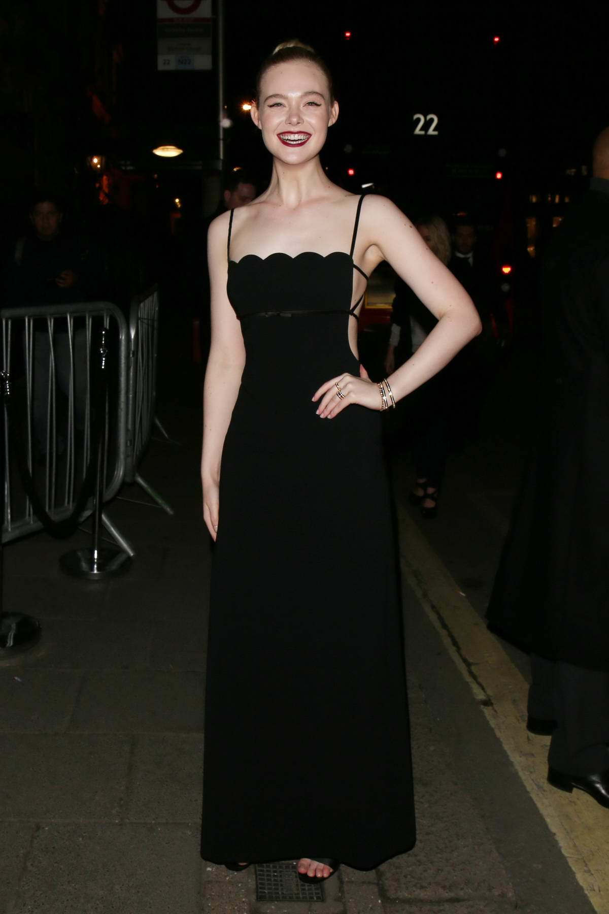 Elle Fanning attend the Vogue x Tiffany & Co BAFTA after-party, held at Annabel's Private Members Club in Mayfair, London