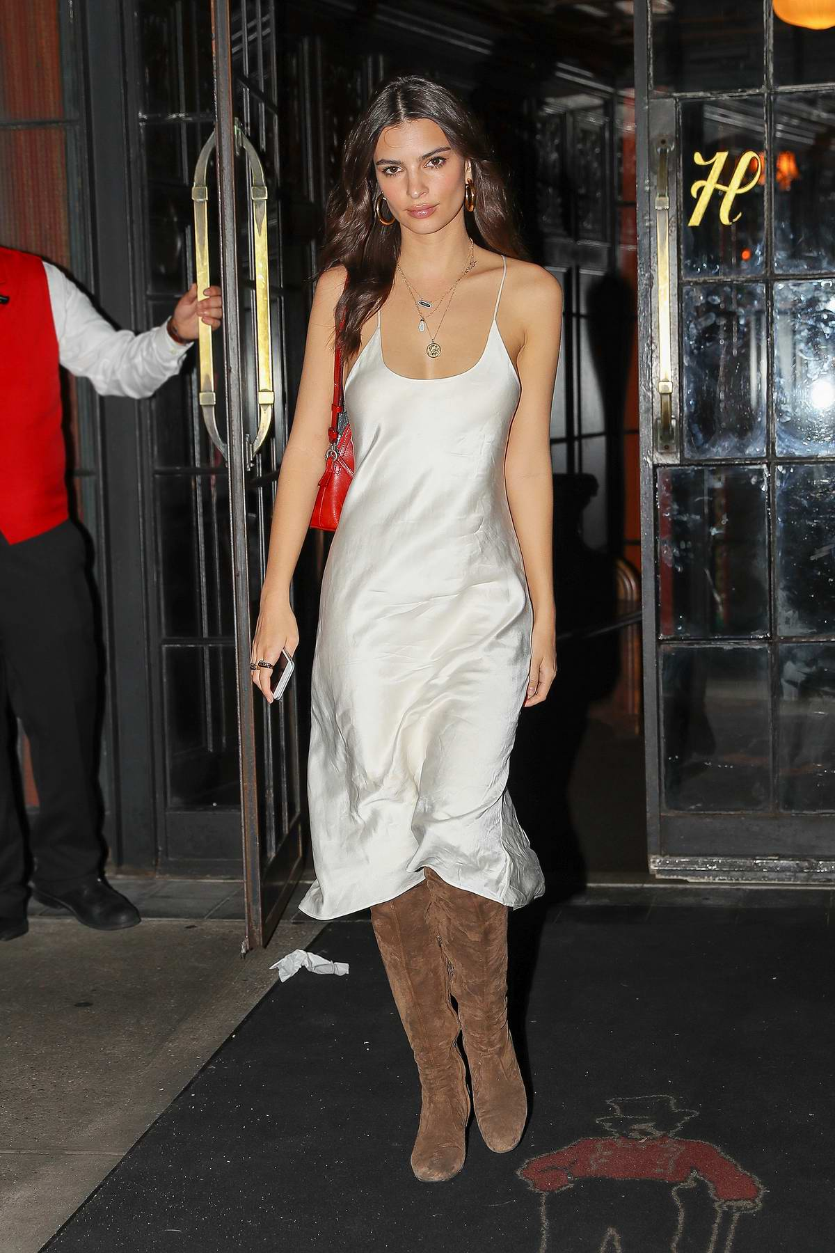 217b127ee910 emily ratajkowski looks radiant in a white slip dress as stepping ...
