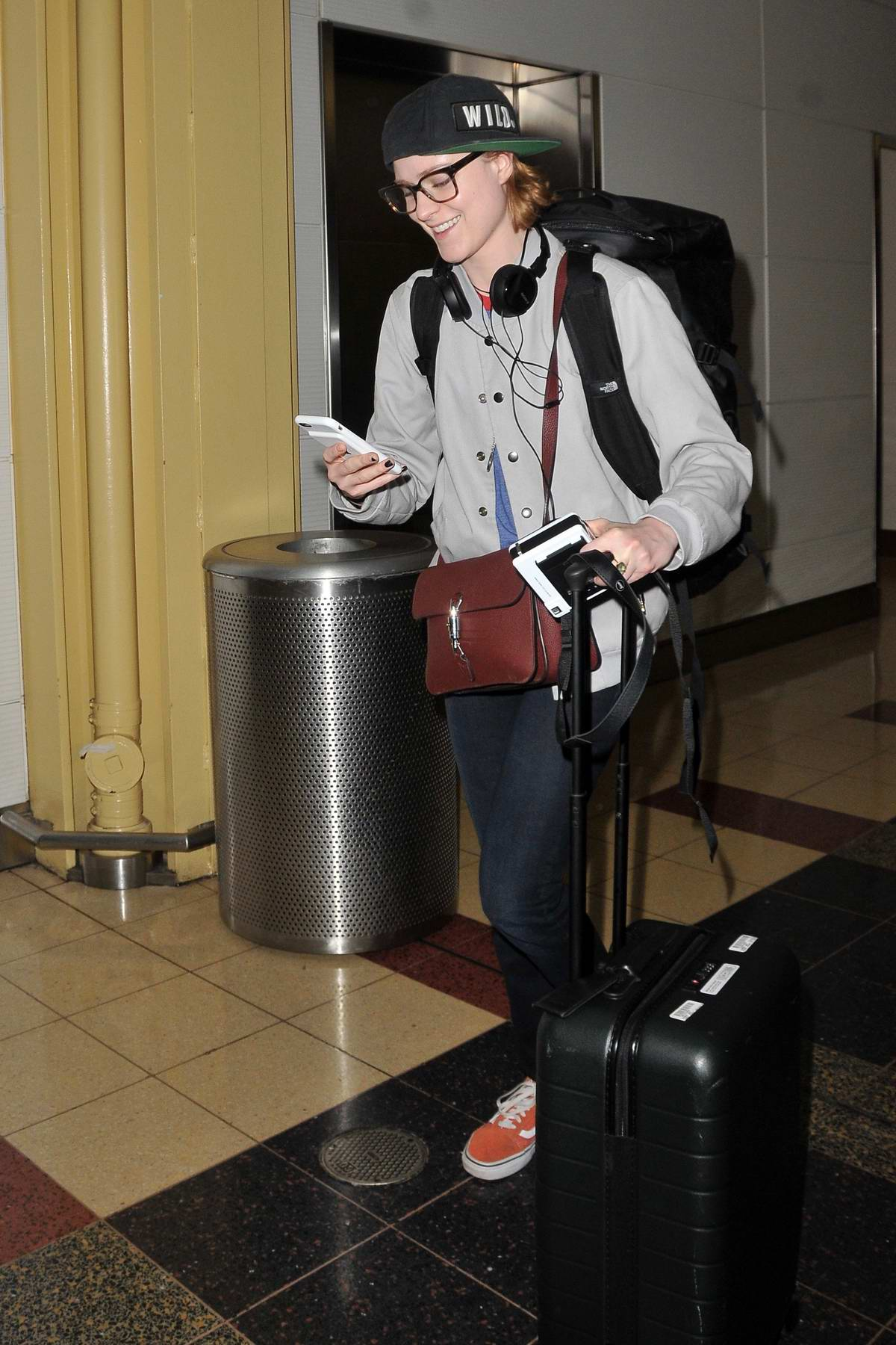Evan Rachel Wood spotted at the airport as she touch down in Washington D.C.