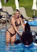 Frankie Essex enjoys her holiday by the poolside in Portugal