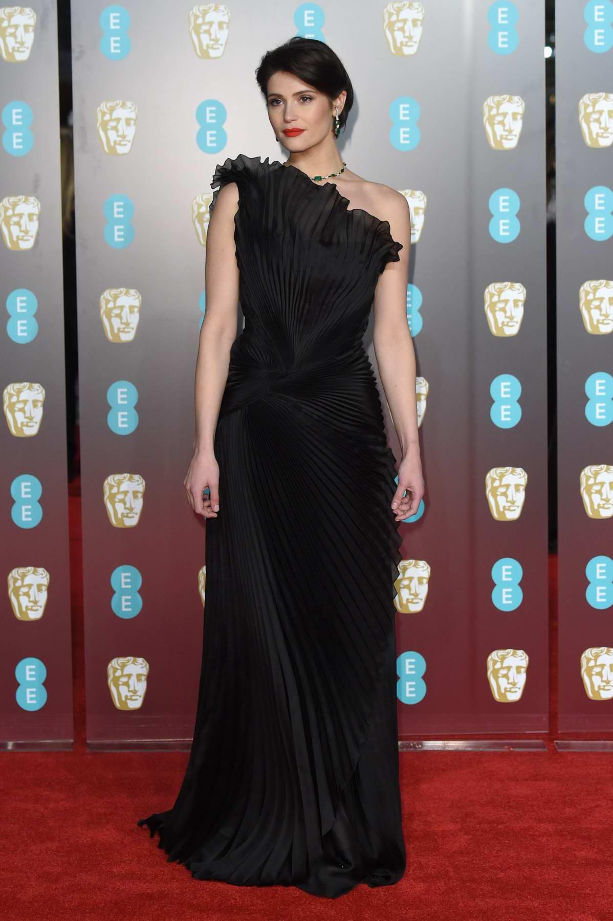 Gemma Arterton attends 71st British Academy Film Awards at Royal Albert Hall in London