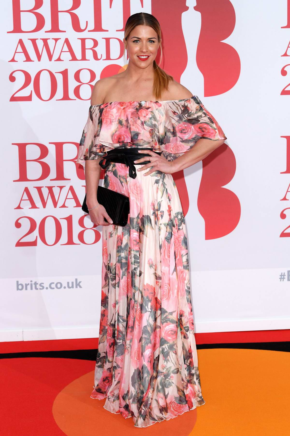 Gemma Atkinson attends the 38th Brit Awards, held at the O2 Arena in London