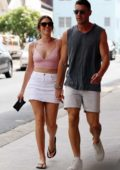 Georgia Love and Lee Elliott spotted while out on a stroll in Bondi, Sydney