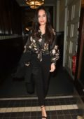 Georgia May Foote spotted as she grabs lunch at The Living Room in Manchester, UK