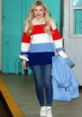 Georgia Toffolo spotted outside ITV studios wearing a colorful sweater in London