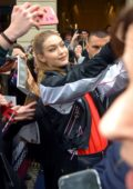 Gigi Hadid greeting fans outside Tommy x Gigi Capsule Collection Presentation in Milan, Italy