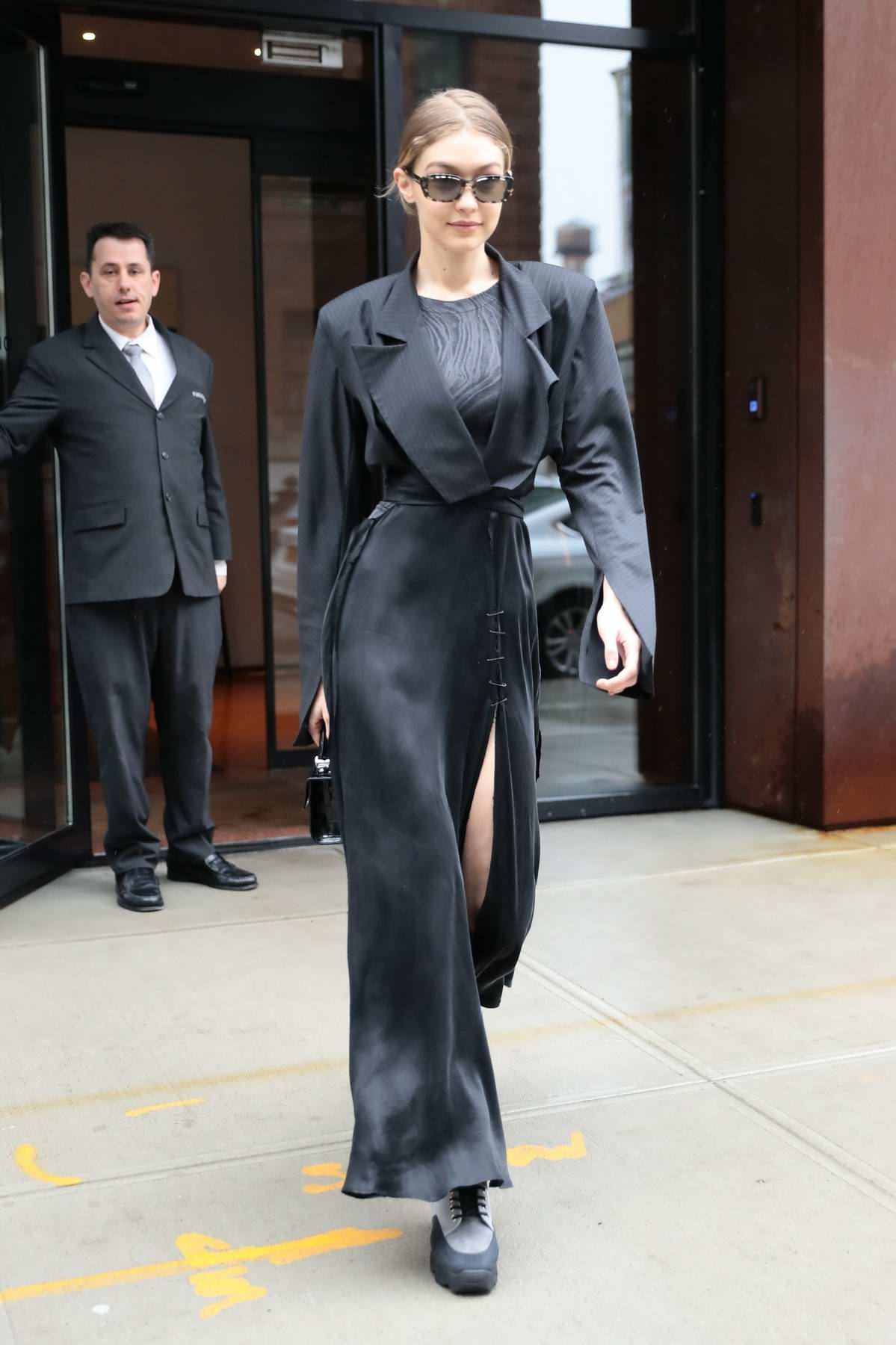 Gigi Hadid looking sleek and stylish leaving her apartment in New York City
