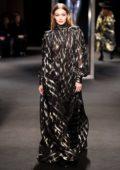 Gigi Hadid walking for Alberta Ferretti Fall Winter Show during Milan Fashion Week in Milan