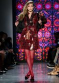 Gigi Hadid walks for the Anna Sui Show, Fall Winter 2018 during New York Fashion Week in New York City