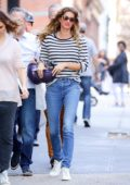 Gisele Bundchen checks on her new property at a construction site in Tribeca, New York City