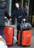 Grace Elizabeth arriving to a hotel during Milan Fashion Week in Milan, Italy