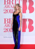 Hailey Baldwin attends the 38th Brit Awards, held at the O2 Arena in London