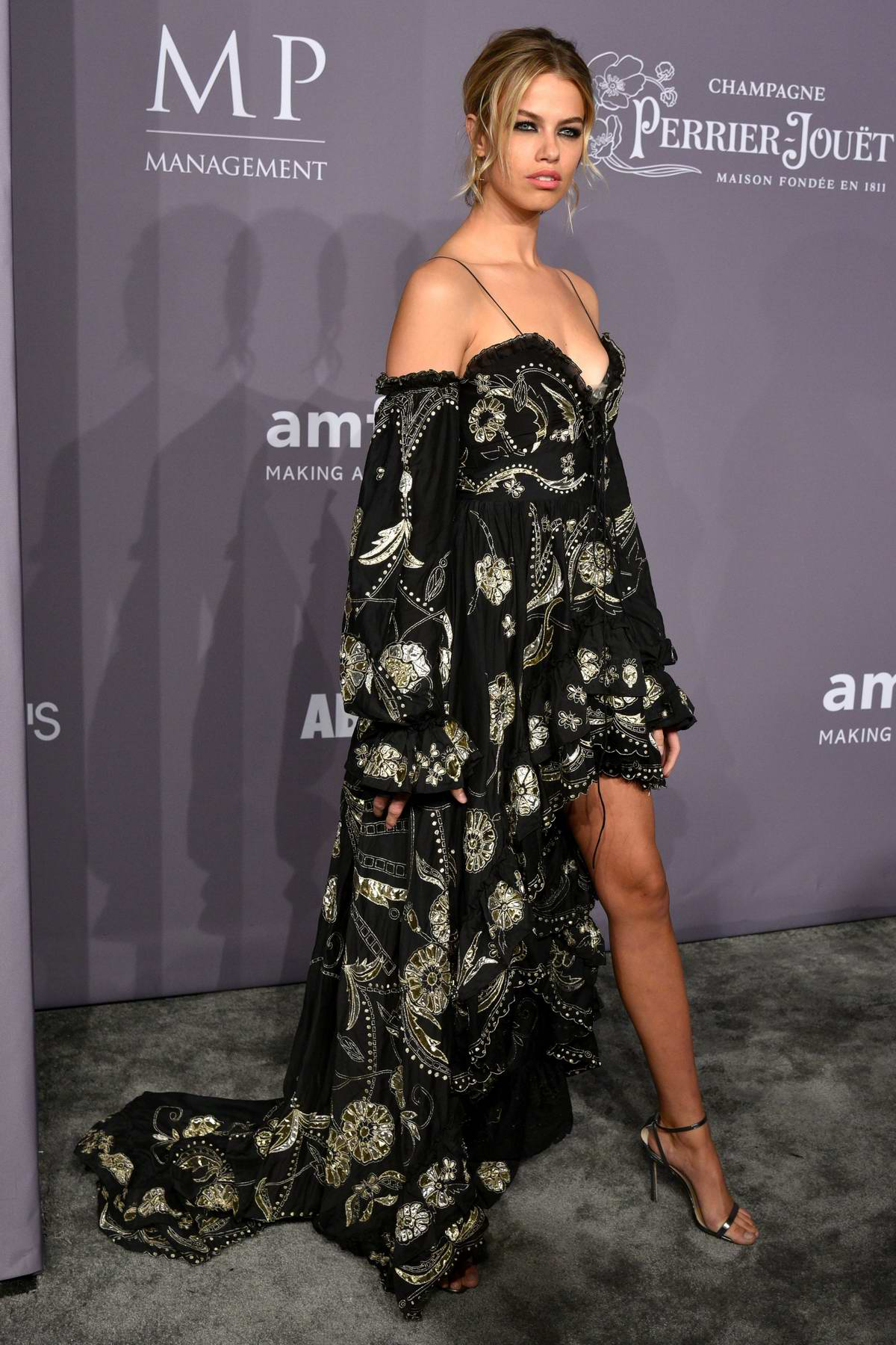 Hailey Clauson attends 2018 amfAR Gala New York at Cipriani Wall Street in New York City