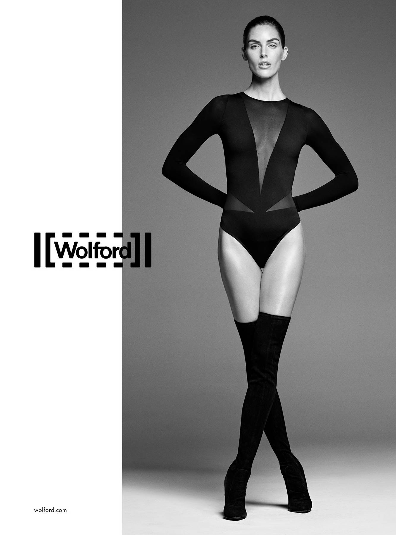 Hilary Rhoda features in Wolford's Spring Summer 2018 Ad Campaign