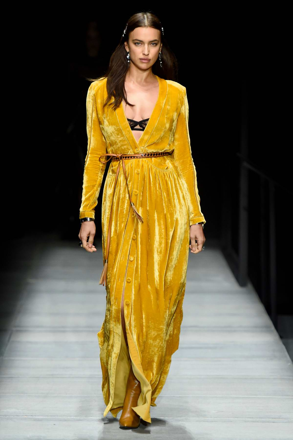 Irina Shayk attends Bottega Veneta Fashion Show during New York Fashion Week in New York City