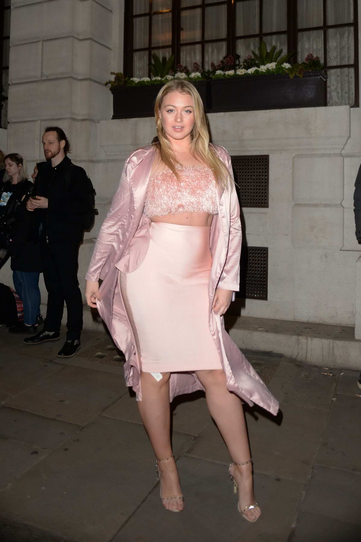 Iskra Lawrence attends Wonderland Magazine x MTV Party during London Fashion Week A/W 2018 in London