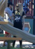 Jaime King spends an afternoon with her kids at a park in Beverly Hills, Los Angeles