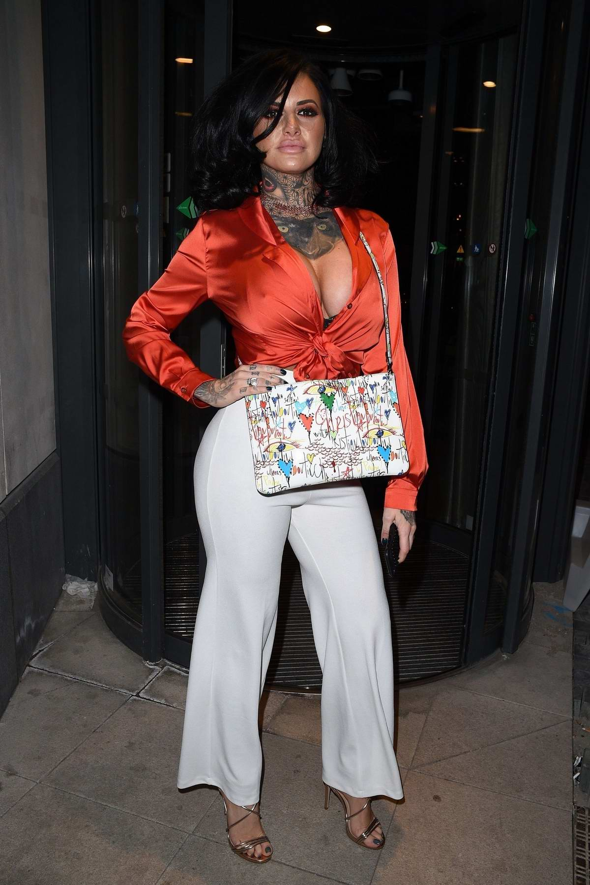 Jemma Lucy heads to a boxing event in Stratford, UK