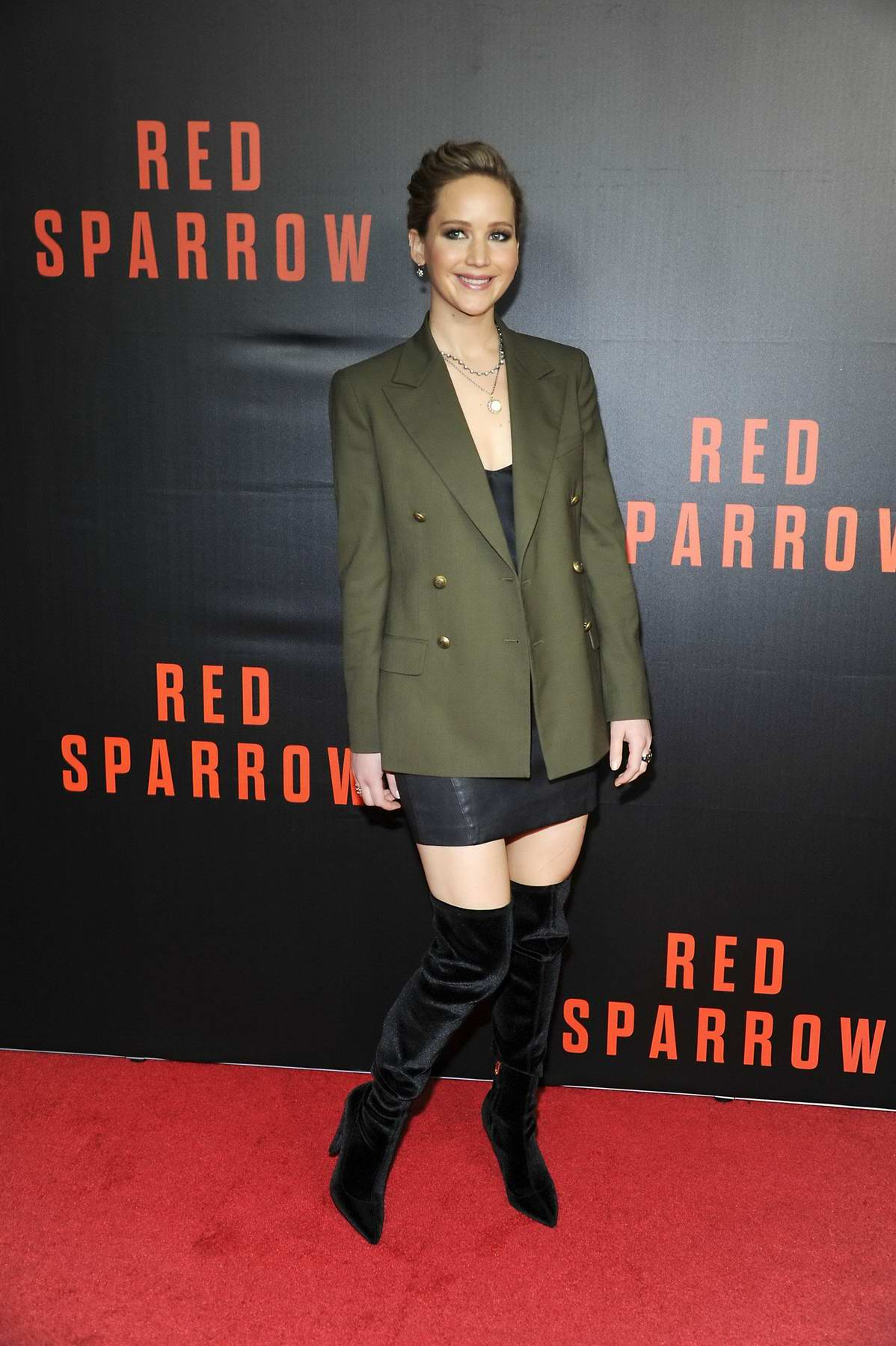 Jennifer Lawrence attends 'Red Sparrow' screening at Newseum in Washington D.C.