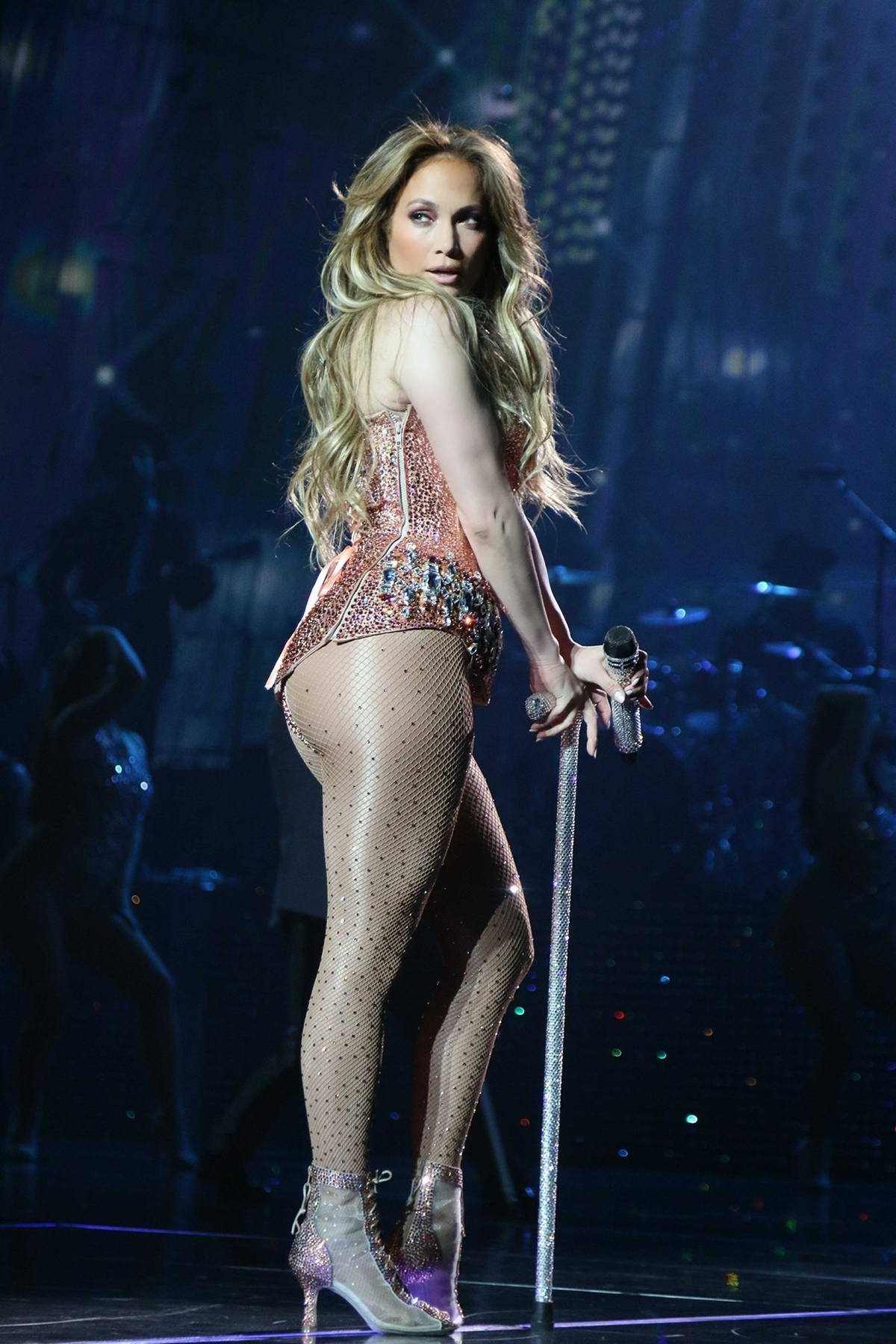 Jennifer Lopez performs live at Planet Hollywood in Las Vegas, Nevada