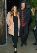 Jessica Alba and Cash Warren out for dinner on Valentine's Day in Santa Monica, California