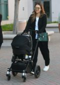 Jessica Alba carts her baby boy's stroller while out in Los Angeles