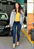 Jessica Cunningham spotted leaving ITV Studios after making an appearance on 'This Morning' show in London