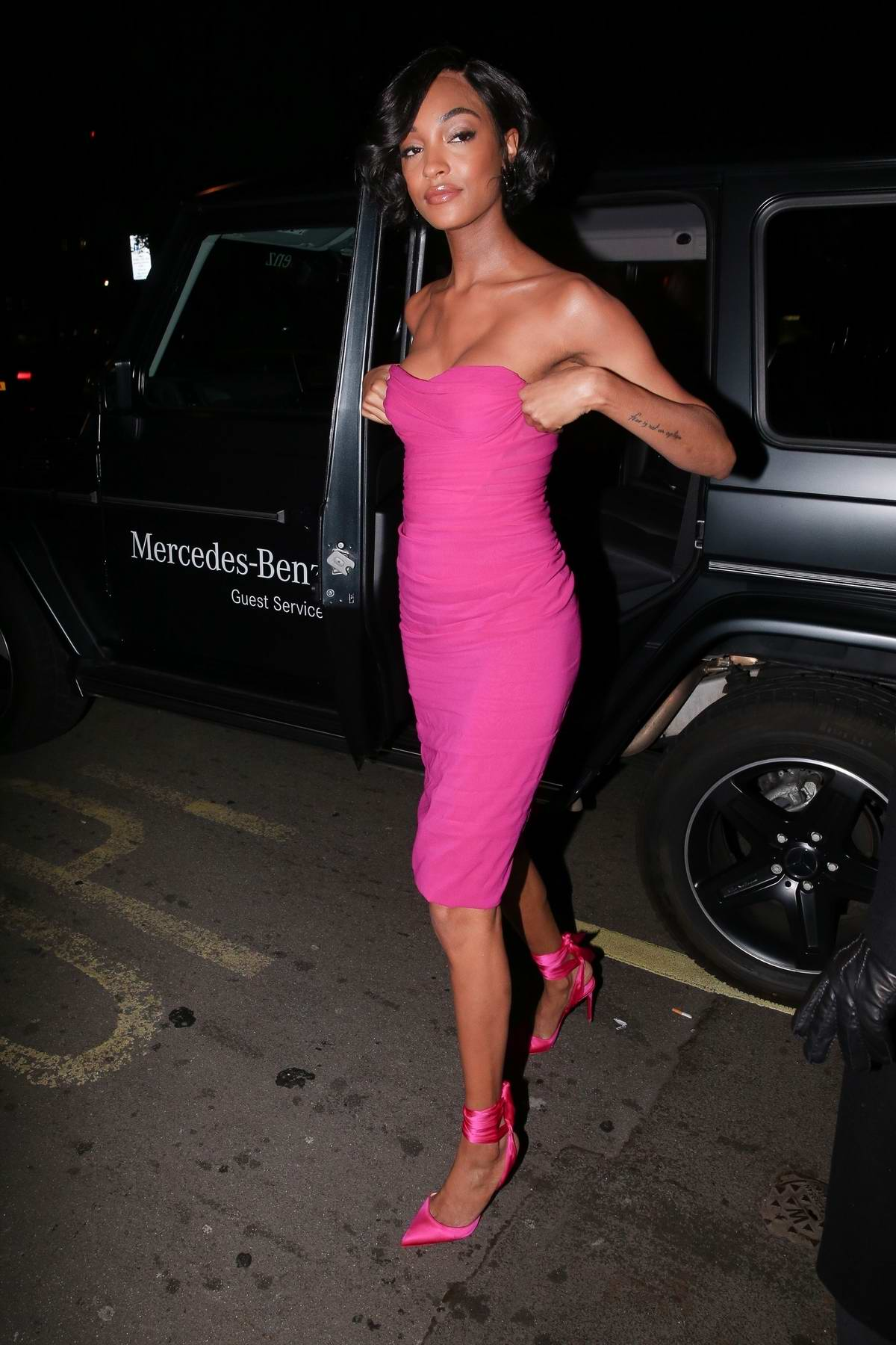 Jourdan Dunn attend the Vogue x Tiffany & Co BAFTA after-party, held at Annabel's Private Members Club in Mayfair, London