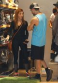 Julianne Hough, Brooks Laich and Derek Hough shops for some new snowboard gear in West Hollywood, Los Angeles