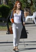 Julianne Hough shows off her new red hair while running errands in in Los Angeles