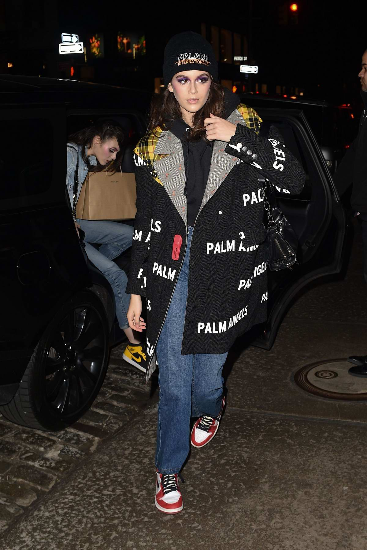 Kaia Gerber arrives back to the Mercer Hotel during New York Fashion Week in New York City