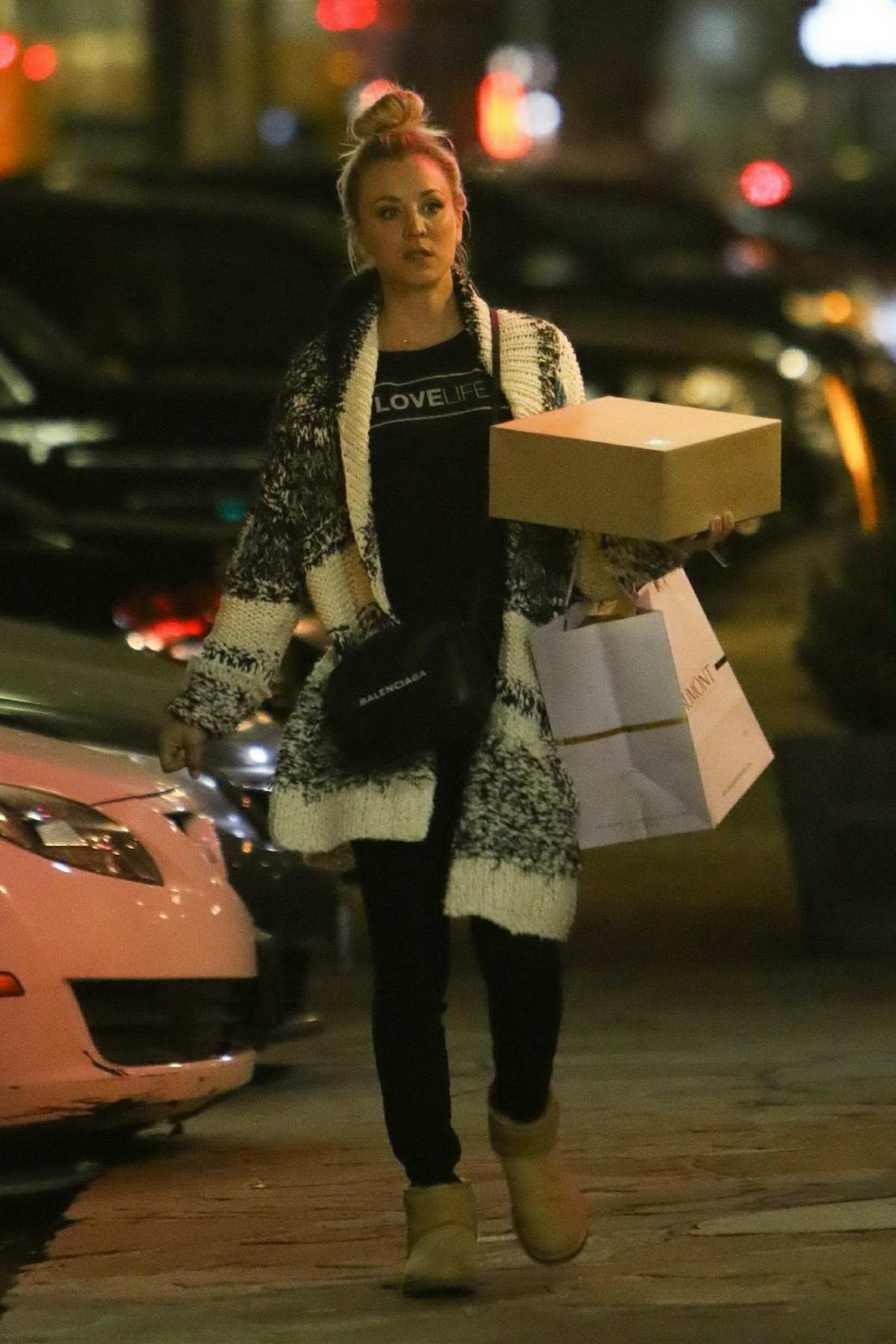 Kaley Cuoco shops for Valentine's Day with her fiance Karl Cook in Los Angeles