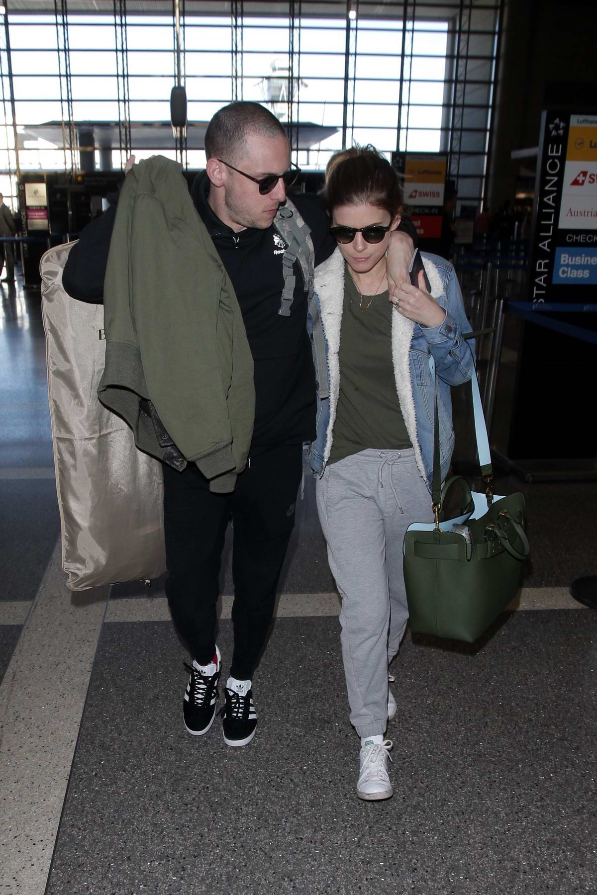 Kate Mara and Jamie Bell arrives at LAX airport to catch flight out of Los Angeles