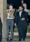 Kendall Jenner spotted while leaving after dinner at Nobu in Malibu, California
