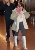 Kim Kardashian arrives at Haneda International Airport in Tokyo, Japan