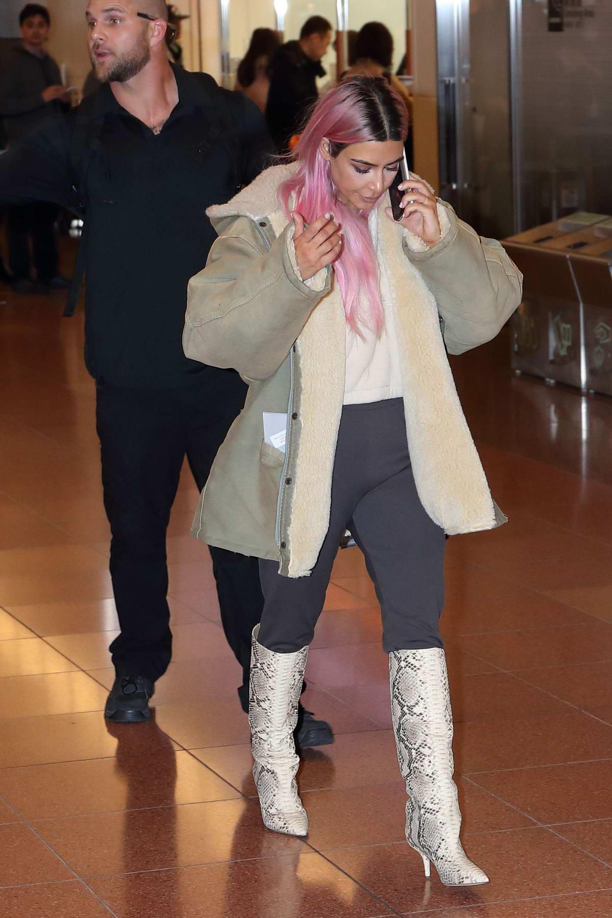Kim Kardashian arrives at Haneda International Airport in Tokyo, Japan