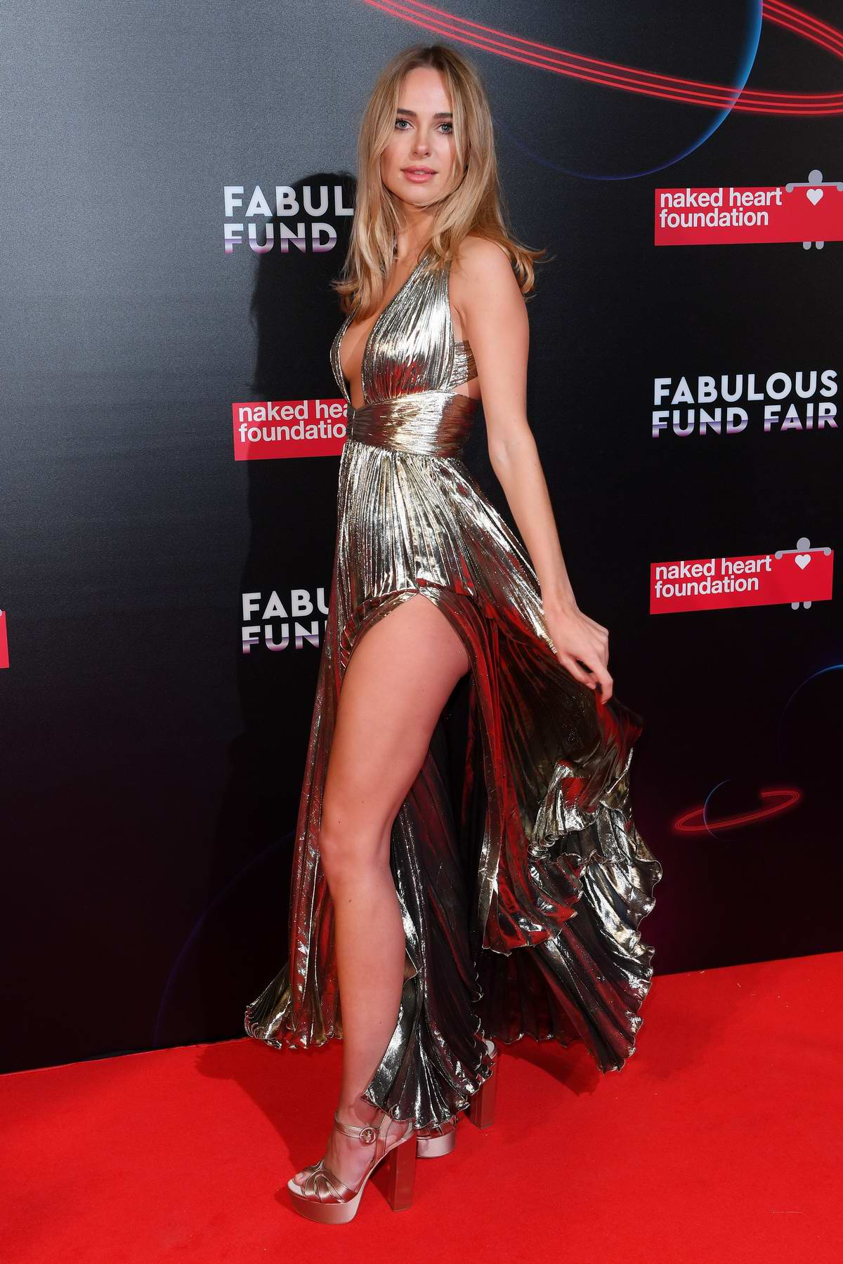 Kimberley Garner attends Fabulous Fund Fair in London