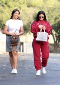Kyle Jenner stops off for a Starbucks before heading to a friend's baby shower in Los Angeles