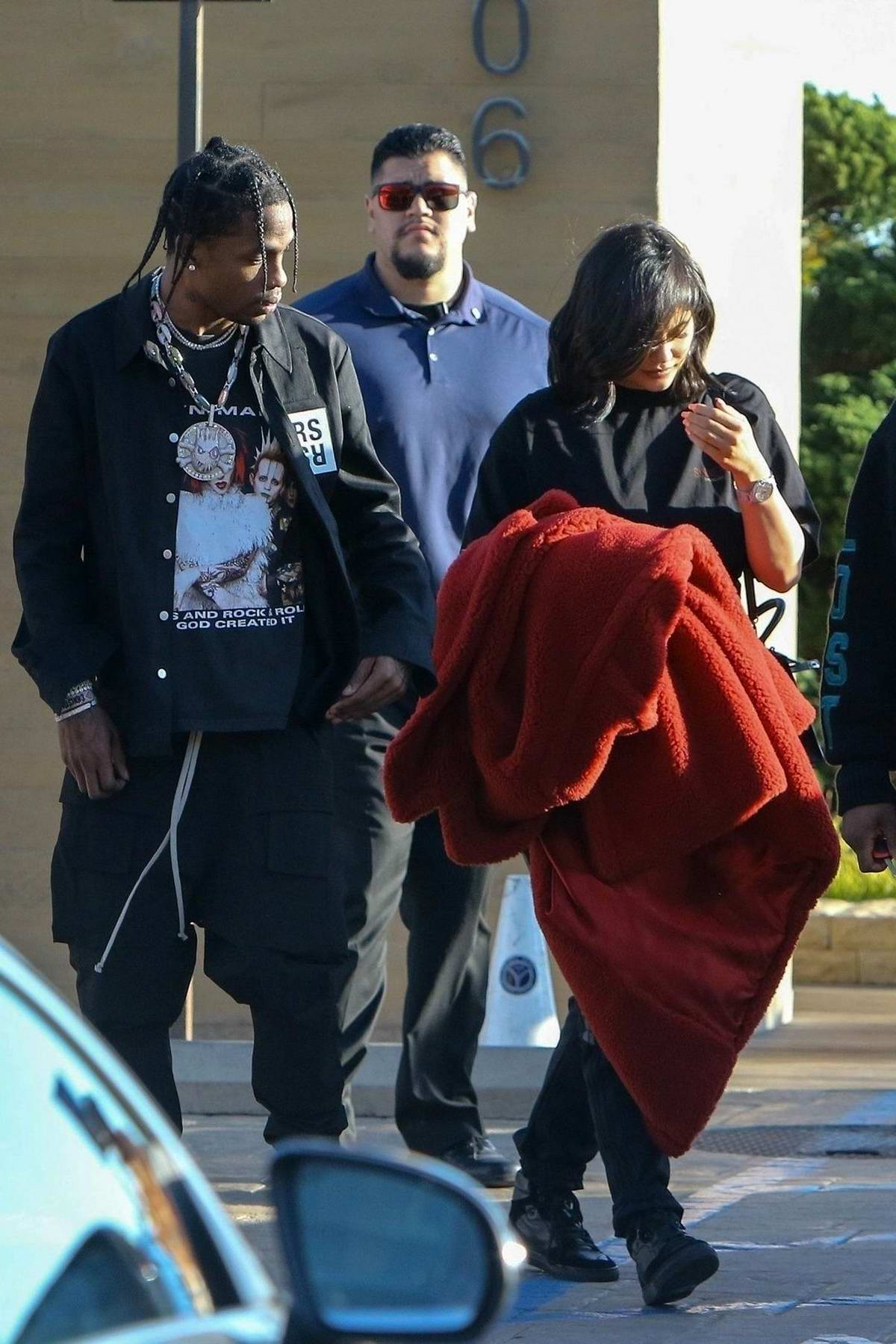 Kylie Jenner and Travis Scott spotted as they leave Nobu in Malibu, California