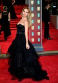 Lily James attends 71st British Academy Film Awards at Royal Albert Hall in London