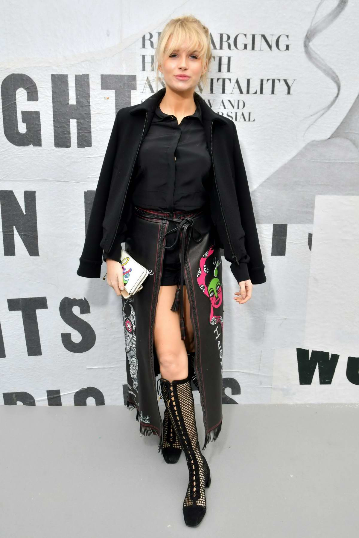 Lottie Moss attends Christian Dior Show, fall winter 2018-2019 during Paris Fashion Week, France