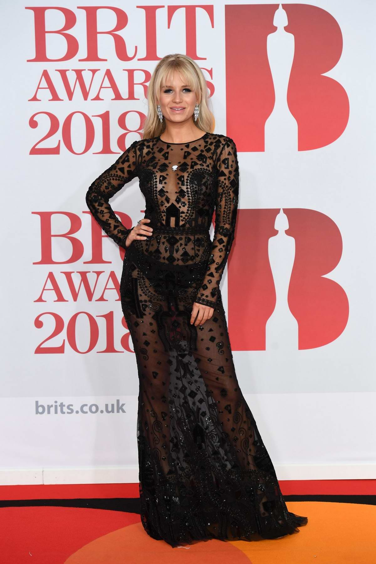 Lottie Moss attends the 38th Brit Awards, held at the O2 Arena in London