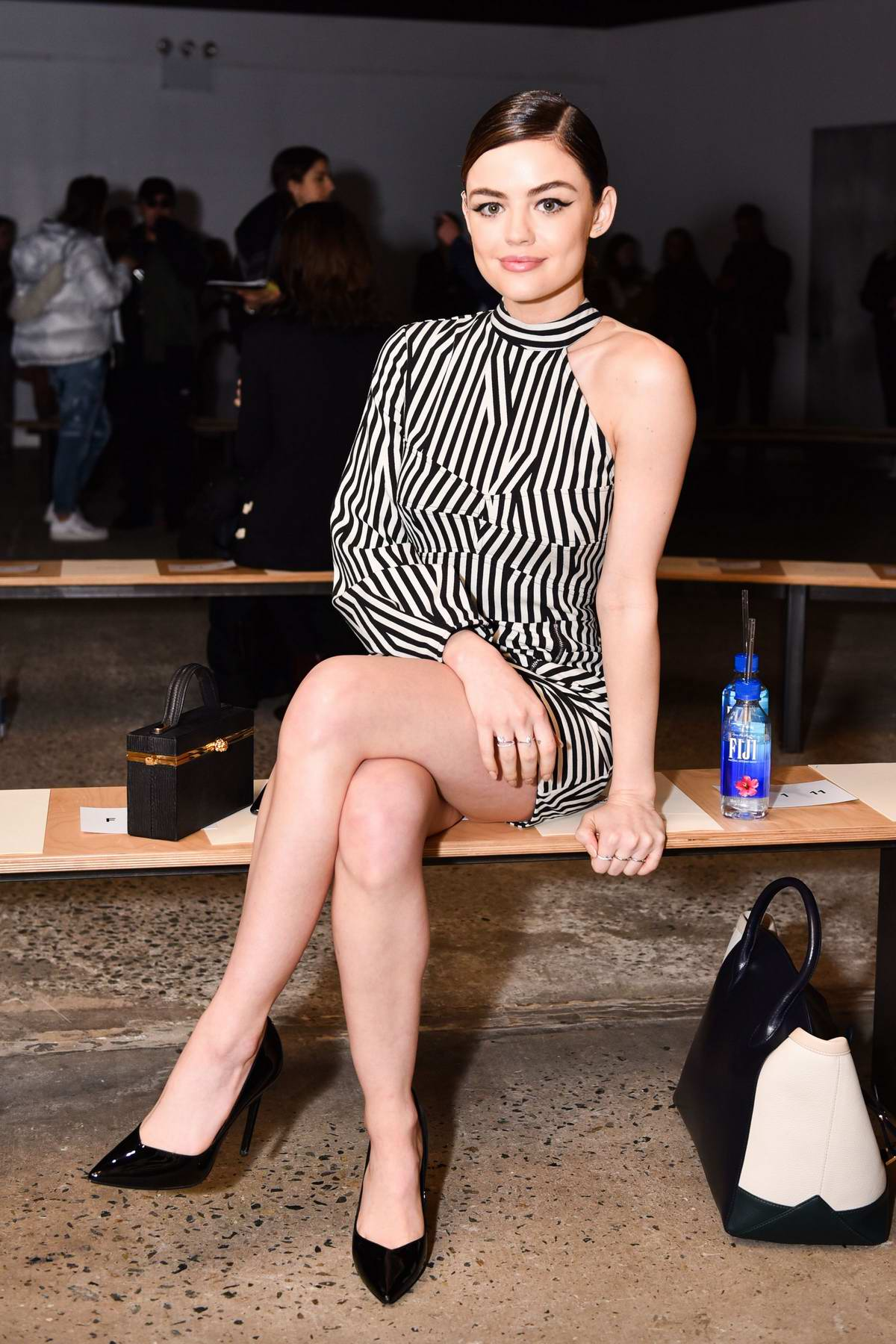 Lucy Hale at Self-Portrait Show during New York Fashion Week in New York City