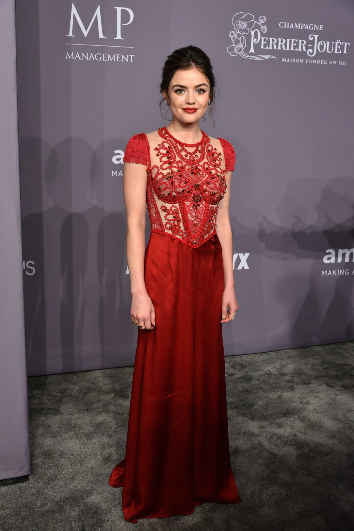 Lucy Hale Attends 2018 Amfar Gala New York At Cipriani