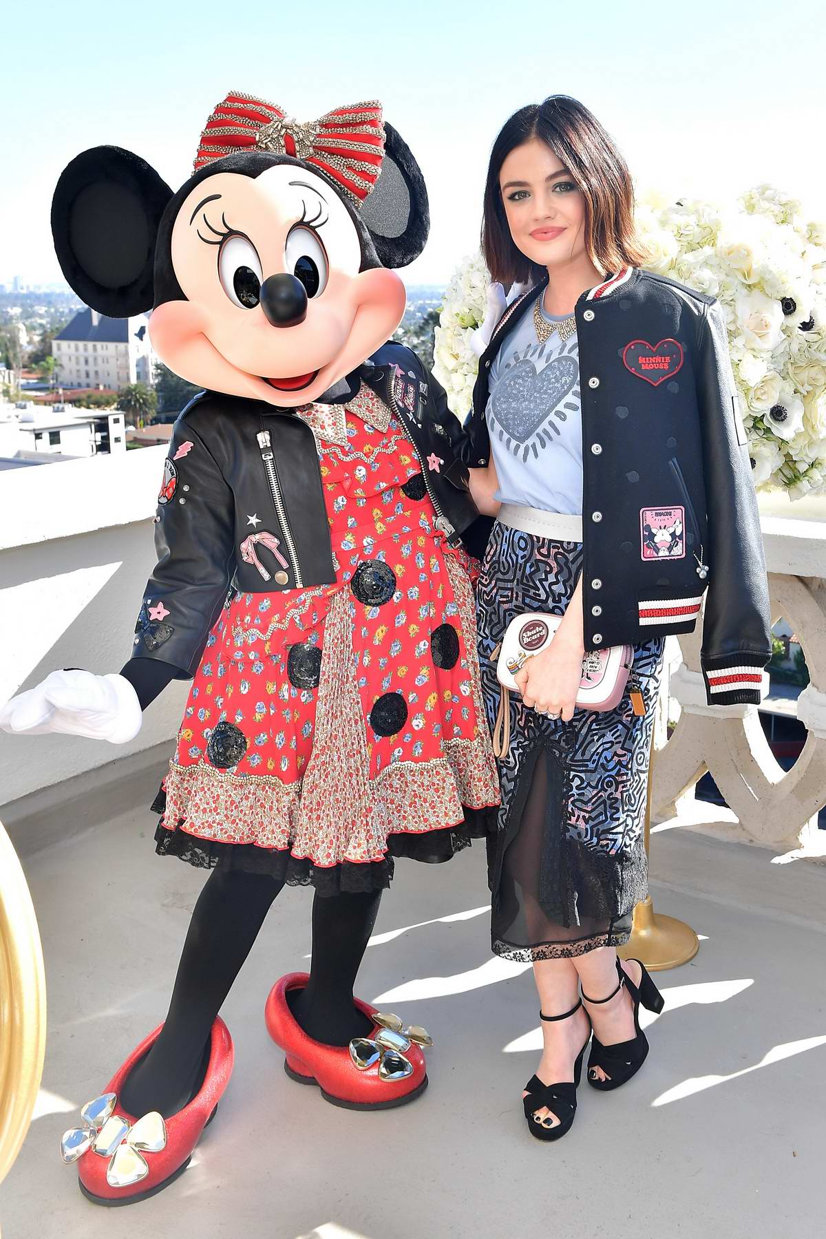 Lucy Hale attends lunch celebrating Minnie's Star on the Hollywood Walk of Fame at Chateau Marmont in Los Angeles