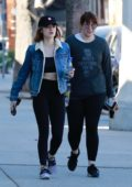 Lucy Hale heading to the gym with a girlfriend in Studio City, Los Angeles