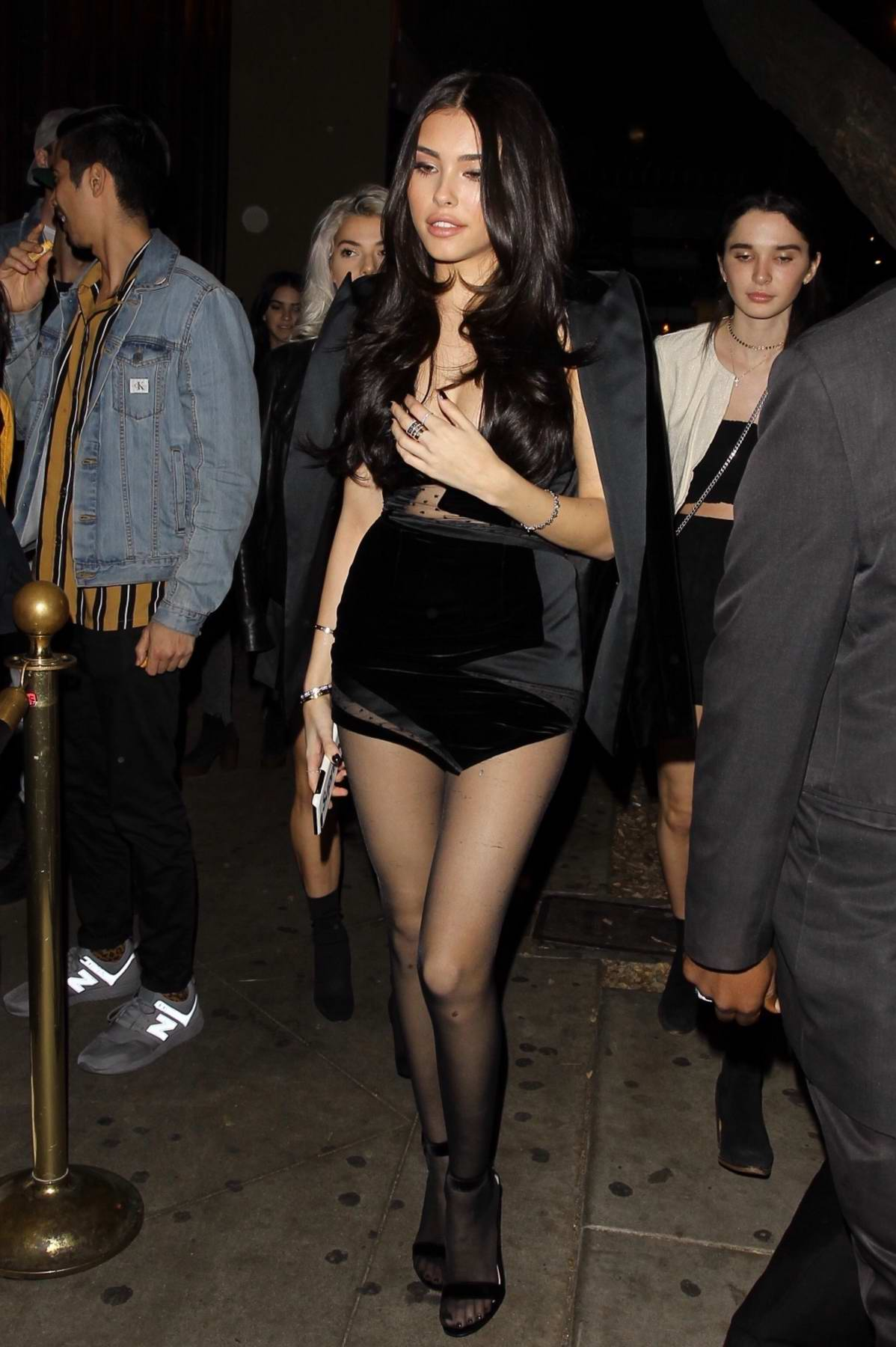 Madison Beer arrives at her listening party at the Peppermint Club in West Hollywood, Los Angeles